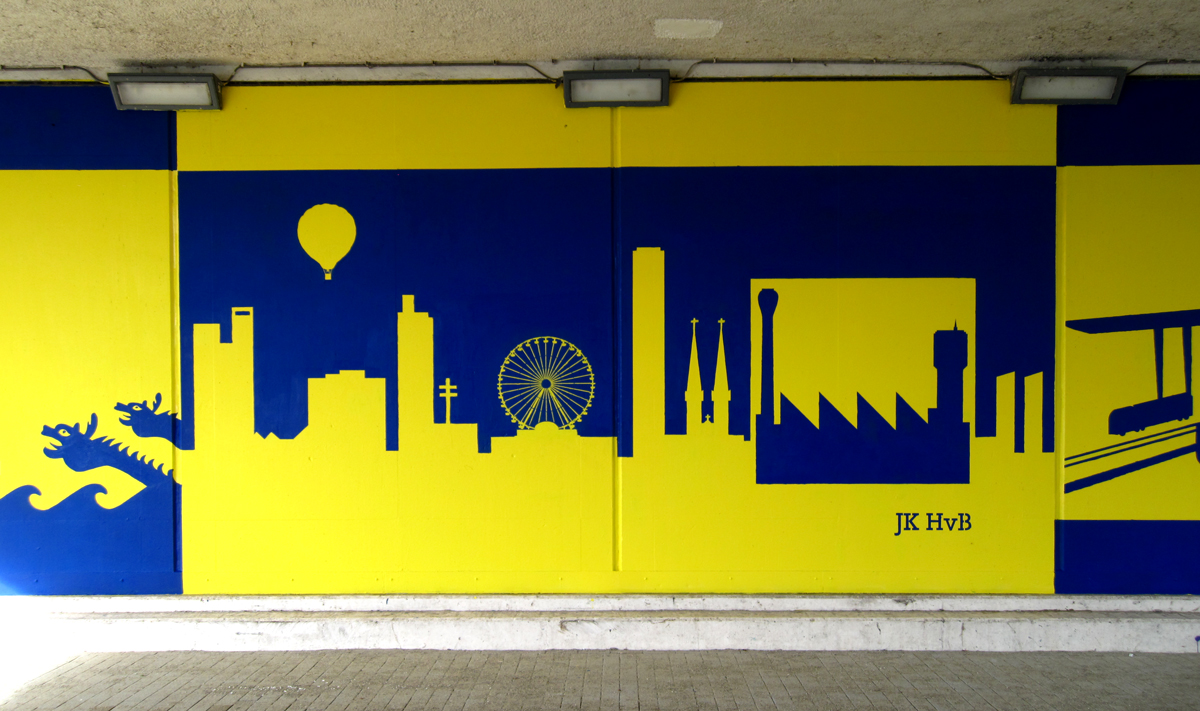 muurschildering-brug-piushaven-tilburg