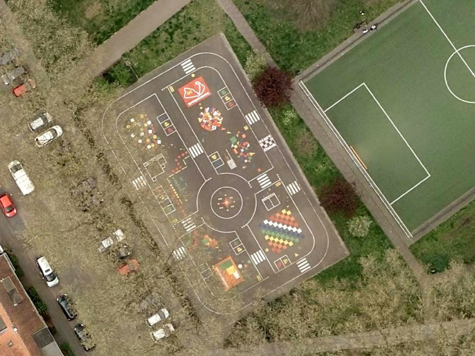 vloerschildering-speelplaats-stuivesantplein-tilburg