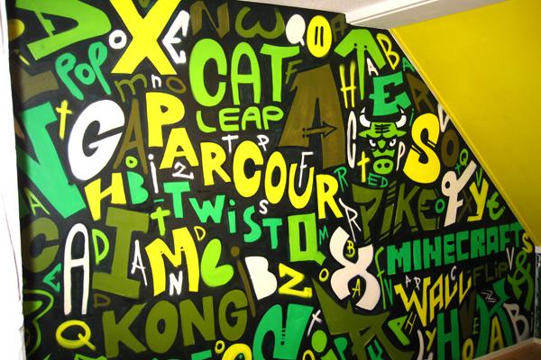 graffiti-muurschildering-kinderkamer-parcour