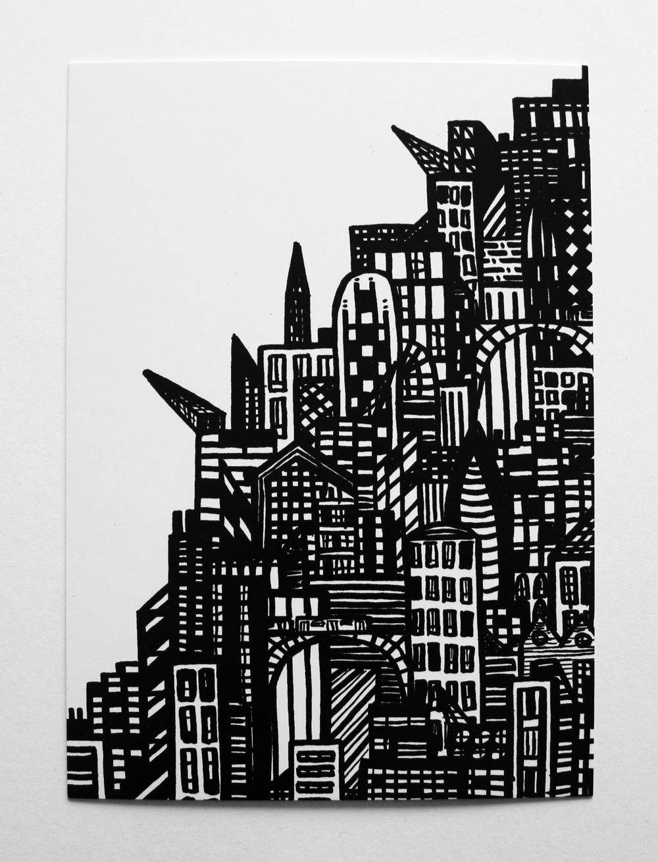 postcard-gestapelde-stad