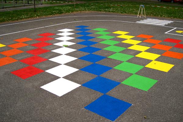 vloerschildering-speelplaats-schaakdambord