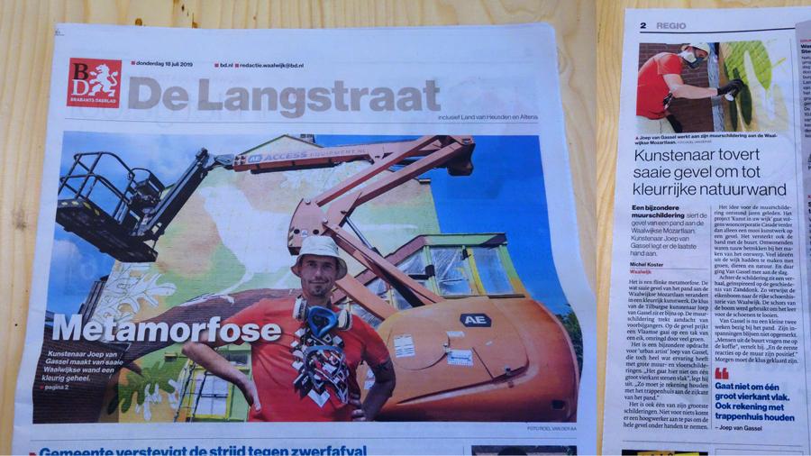 artikelbrabantsdagbladmuurschilderingwaalwijk