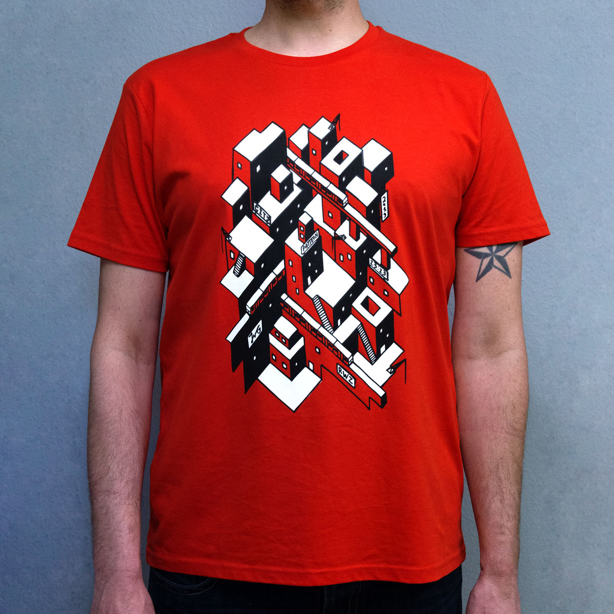 tshirt-zeefdruk-city-pattern