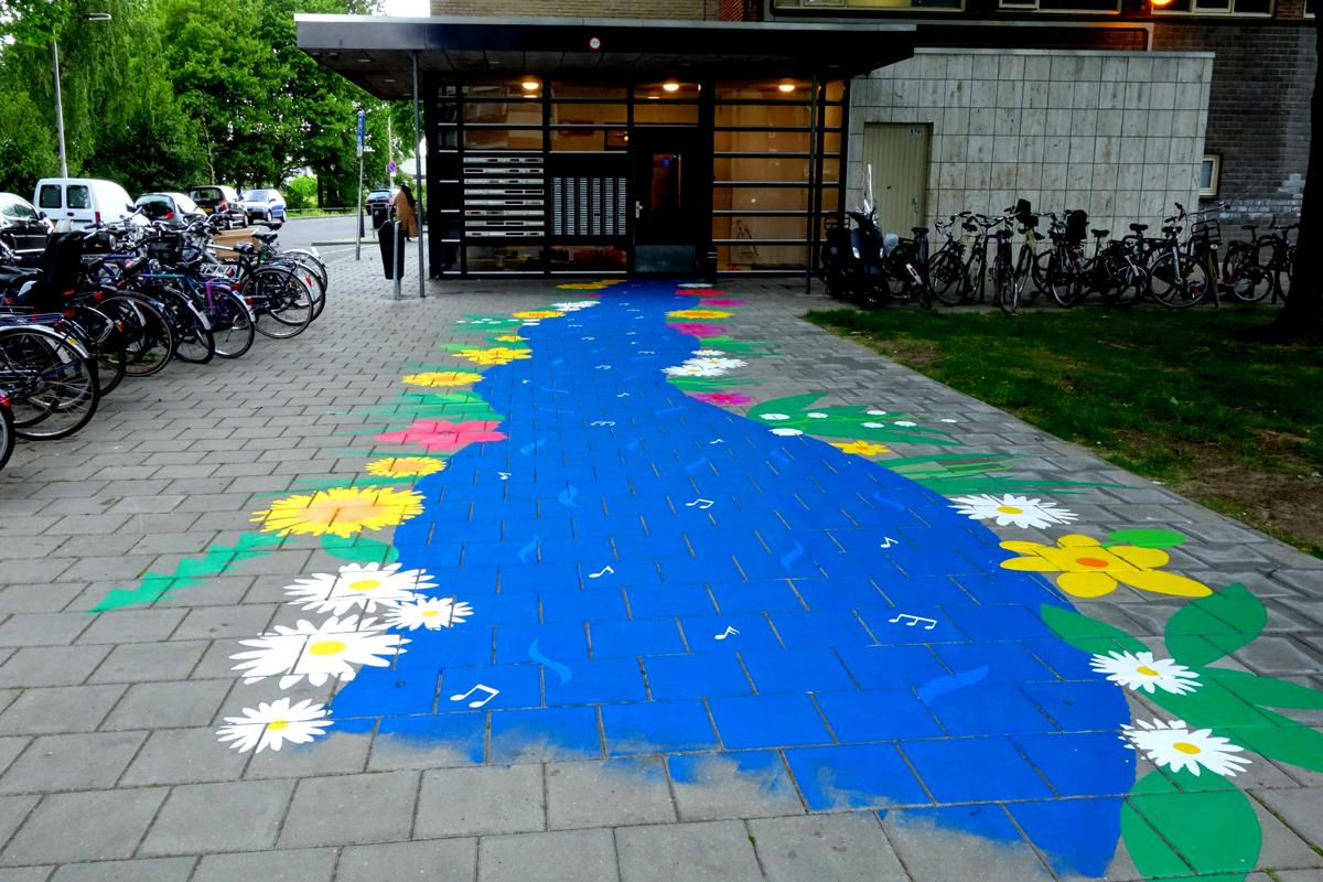 vloerschildering-ingang-flat-tilburg