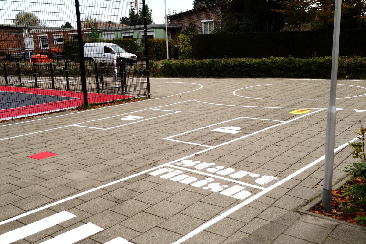 vloerschildering-verkeersplein-basischool