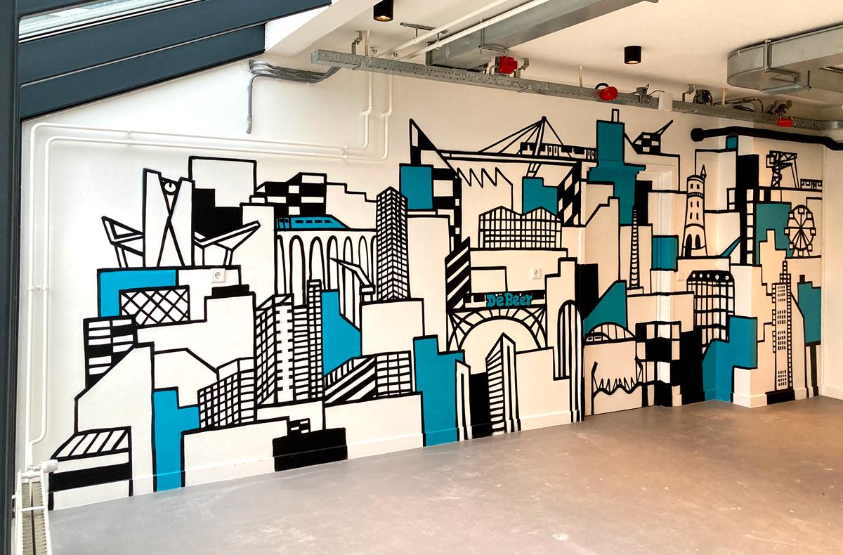 muurschildering-kantoor
